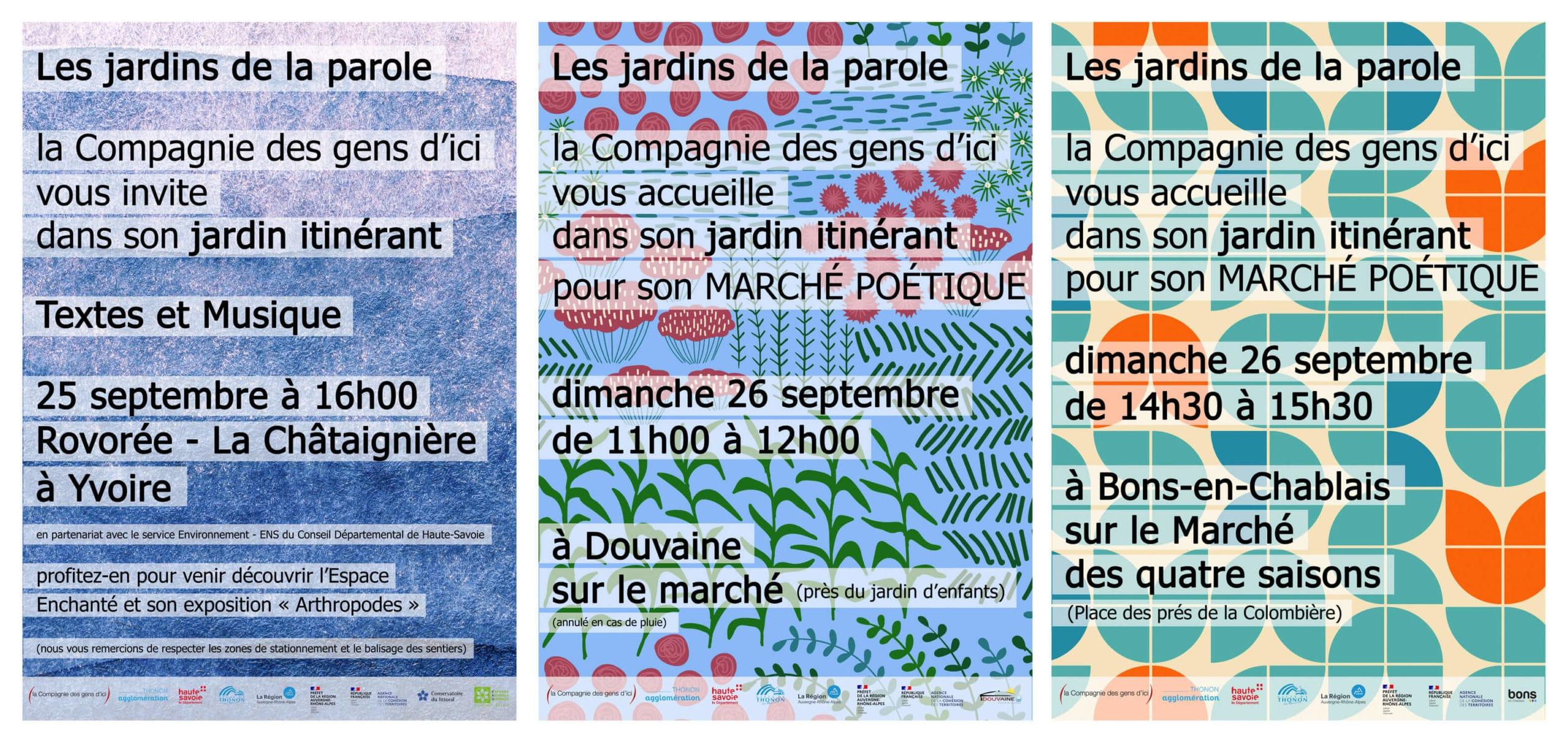 LE JARDIN ITINERANT les 25 et 26/09/21